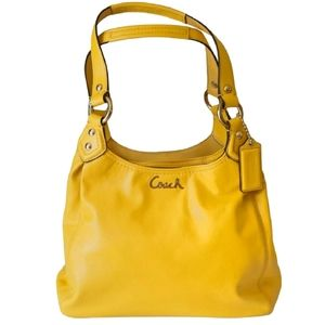 New Coach Ashley Shoulder Bag Yellow